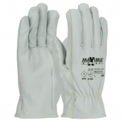 PIP 09-K3750 Maximum Safety AR/FR Top Grain Goatskin Leather Gloves - Kevlar Liner