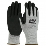 PIP 16-655 G-Tek Seamless Knit PolyKor Xrystal Blended Gloves - Double-Dipped Nitrile Coated MicroSurface Palm & Fingers