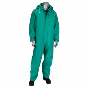 PIP 205-420CV Falcon ChemFR Treated PVC Coveralls - Green