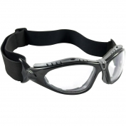 Bouton 250-50-0420 Fuselage Safety Glasses/Goggles - Black Foam Lined Frame - Clear Anti-fog Lens