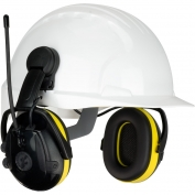 PIP 264-46102 Hellberg React Cap Mounted Electronic Ear Muffs with AM/FM Radio & Active Listening - NRR 23