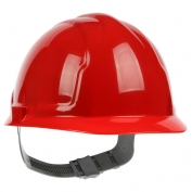 PIP 280-CS4200 Cap Style Hard Hat - 4-Point Slip Ratchet Suspension - Red