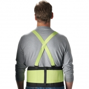 PIP High Visibility Back Support Belt - Velcro Closure - Lime Yellow