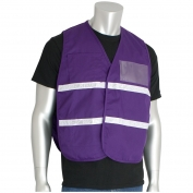PIP 300-2501 Cotton/Polyester Non-ANSI Incident Command Vest - Purple