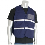 PIP 300-2503 Cotton/Polyester Non-ANSI Incident Command Vest - Dark Blue