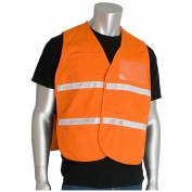PIP 300-2507 Cotton/Polyester Non-ANSI Incident Command Vest - Orange