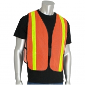 PIP 300-EVOR-P Non-ANSI Hi-Gloss Mesh Safety Vest - Orange