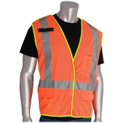 PIP 302-0210 Class 2 X-Back Breakaway Mesh Safety Vest - Orange