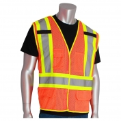 PIP 302-0212 Class 2 Breakaway Two-Tone Mesh Safety Vest - Orange