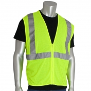 PIP 302-MVGZ Economy Class Mesh 2 Safety Vest with Zipper - Yellow/Lime
