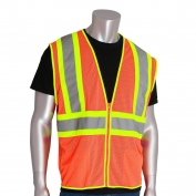 PIP 302-MV Economy Class 2 Two-Tone Mesh Safety Vest - Orange