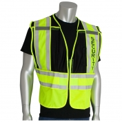 PIP 302-PSV-BLK ANSI 207 Public Safety Vest with SECURITY Text - Yellow/Black