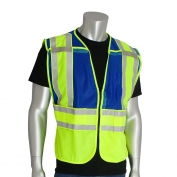 PIP 302-PSV-BLU-NL ANSI 207 Public Safety Vest - Yellow/Blue