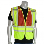 PIP 302-PSV ANSI Type P Class 2 Public Safety Vest - Yellow/Red