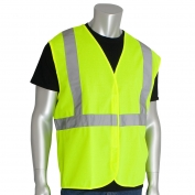 PIP 302-WCENG Economy Class 2 Solid Safety Vest - Yellow/Lime
