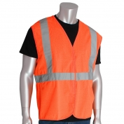 PIP 302-WCENG Economy Class 2 Solid Safety Vest - Orange