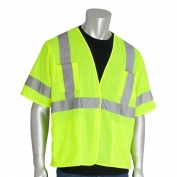 PIP 303-HSVE Economy Class 3 Mesh Safety Vest with Four Pockets - Yellow/Lime