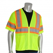 PIP 303-HSVP Economy Class 3 Two-Tone Mesh Safety Vest - Yellow/Lime