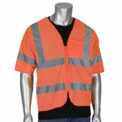 PIP 303-V100 Economy Class 3 Dual Sized Value Mesh Safety Vest - Orange