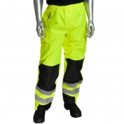 PIP 318-1771 Class E Ripstop Reinforced Overpants - Yellow/Lime