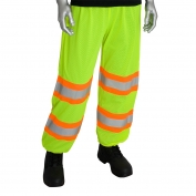 PIP 319-MTP Class E Two-Tone Mesh Safety Pants - Yellow/Lime