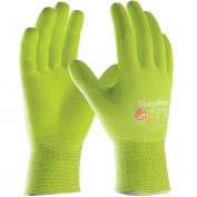 PIP 34-874FY MaxiFlex Ultimate Hi-Vis Seamless Knit Nylon/Lycra Gloves with Nitrile Coated Palm & Fingers