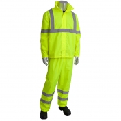 PIP 353-1000LY Flacon Viz Class 3 Two-Piece Value Rainsuit - Yellow/Lime
