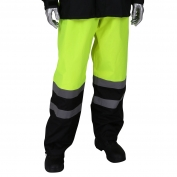 PIP 353-1202 Viz Class E All Purpose Waterproof Pants with Black Bottoms - Hi-Vis Yellow