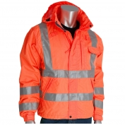 PIP 353-2000-OR Class 3 Heavy Duty Waterproof Breathable Rain Jacket - Orange