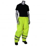 PIP 353-2002 VizPLUS Class E Waterproof Rain Pants - Yellow/Lime