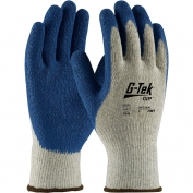 PIP 39-C1300 G-Tek GP Seamless Knit Cotton/Polyester Gloves - Latex Coated Crinkle Grip on Palm & Fingers - Premium Grade