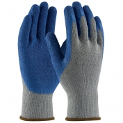 PIP 39-C1305 G-Tek Seamless Knit Cotton/Polyester Gloves - Latex Coated Crinkle Grip on Palm & Fingers - Regular Grade
