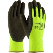 PIP 41-1405 PowerGrab Thermo Hi-Vis Seamless Knit Acrylic Terry Gloves - Latex MicroFinish Grip on Palm & Fingers