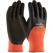 PIP 41-1475 PowerGrab Thermo Hi-Vis Seamless Knit Acrylic Terry Gloves - Latex MicroFinish Grip on Palm, Fingers, & Knuckles
