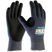PIP 44-3445 MaxiCut Ultra Seamless Knit Engineered Yarn Gloves - Premium Nitrile Coated MicroFoam Grip on Palm & Fingers - Micro Dot Palms