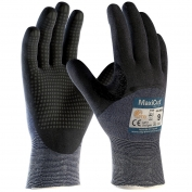 PIP 44-3455 MaxiCut Ultra Seamless Knit Engineered Yarn Gloves - Premium Nitrile Coated MicroFoam Grip on Palm, Fingers, & Knuckles - Micro Dot Palm
