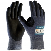 PIP 44-3745 MaxiCut Ultra Seamless Knit Engineered Yarn Gloves - Premium Nitrile Coated MicroFoam Grip on Palm & Fingers