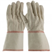PIP 92-918G Cotton Canvas Double Palm Gloves with Nap-in Finish - Gauntlet Cuff