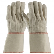 PIP 92-918GO Cotton Canvas Double Palm Gloves with Nap-out Finish - Gauntlet Cuff