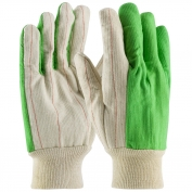 PIP 92-918PCGB Hi-Vis Cotton/Polyester Double Palm Gloves with Nap-in Finish - Knitwrist