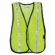 ML Kishigo PL-V18 P-Series White Tape Mesh Safety Vest - Yellow/Lime