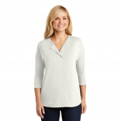 Port Authority LK5433 Ladies Concept 3/4-Sleeve Soft Split Neck Top
