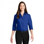 Port Authority LW102 Ladies 3/4-Sleeve Carefree Poplin Shirt