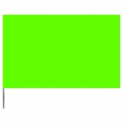 Presco Plain 2 inch x 3 inch with 30 inch Staff - Lime Glo