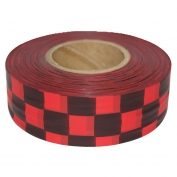 Presco CKRBK Checkerboard Roll Flagging Tape - Red/Black