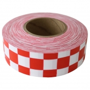 Presco CKWR Checkerboard Roll Flagging Tape - White/Red