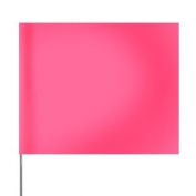 Presco Plain 4 inch x 5 inch with 24 inch Plastic Staff - Pink Glo