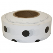 Presco PDWBK Polka Dot Roll Flagging Tape - White/Black