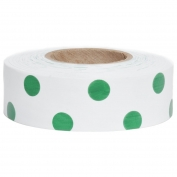 Presco PDWG Polka Dot Roll Flagging Tape - White/Green