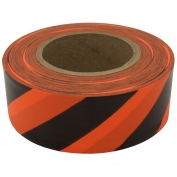 Presco SOBK Striped Roll Flagging Tape - Orange/Black